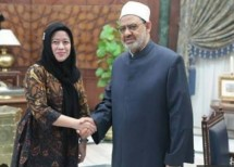 Menko PMK Puan Maharani dan Sheikh Al Azhar (Foto Jawapos.com)