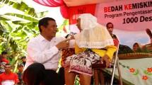 Menteri Pertanian, Andi Amran Sulaiman, meluncurkan Program Bedah Kemiskinan Rakyat Bekerja (BEKERJA) di Desa Sangkanayu, Kecamatan Mrebet, Purbalingga, Jawa Tengah.