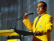 Chairman of the Board of Trustees of the Golkar Party Aburizal Bakrie
