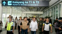 Minister of Transportation Conducts Checks at Soetta Airport
