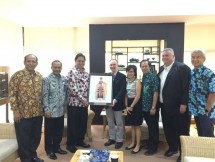 Minister of Industry, Airlangga Hartarto, received a visit of Executive Vice President and Chief Supply Chain Officer of Mattel Inc., Peter Gibbson and Vice President of Mattel Global Procurement, Sean Murphy