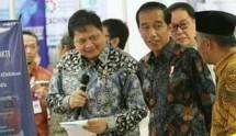 Jokowi dan airlangga (dok INDUSTRY.co.id)