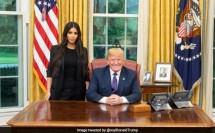 Saat Kim Kardashian menemui Presiden AS Donald Trump. (Foto: Twitter Donald Trump)