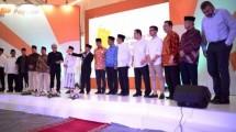 Acara peluncuran PayTren e-money yang dikelola Ustadz Yusuf Mansur di Pondok Pesantren Daarul Quran, di Ketapang, Cipondoh, Tangerang, Jumat (1/6/2018).