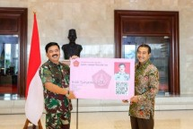 Panglima TNI Marsekal Hadi Tjahjanto dan Dirut BRI Suprajarto (Foto Dok Industry.co.id))