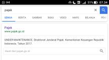 Website Ditjen Pajak masih proses perbaikan