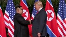 US President Donald Trump and North Korean leader Kim Jong-un in Singapore (Photo VoaNews)