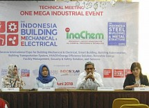 One Mega Industrial Series 2018, will present three main exhibition series of Indonesia Building Mechanical Electrical 2018, InaChem 2018, and Indonesia Steel Building & Metal Structure Expo.