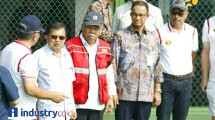 Vice President Jusuf Kalla and Minister of Public Works and Public Housing (PUPR) Basuki Hadimuljono
