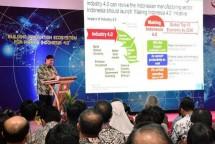 Menteri Perindustrian Airlangga Hartarto menyampaikan, pihaknya tengah mendorong pembangunan infrastruktur digital seperti peningkatan jaringan internet menjadi 5G untuk kawasan industri.
