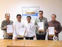 Perhutani menjalin kerjasama dengan tiga BUMN, PT. Perkebunan Nusantra (PTPN), Bank BNI, dan Jasindo. (Dok. Perhutani 2018)