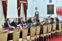 President Jokowi accepted the US Secretary of State (US) Mike Pompeo, at the Merdeka Palace, Jakarta, Sunday (5/8). (Photo: Public Relations / Supreme)