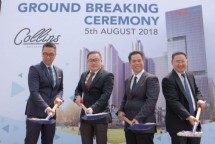 PT Perintis Triniti Properti or property developer Triniti Land held a groundbreaking event in the Collins Boulevard superblock area in Serpong, Tangerang, on Sunday (05/08/2018). (INDUSTRY.co.id)