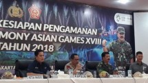 Kepolisian Republik Indonesia bersama TNI menyiagakan 9.422 pasukan gabungan untuk mengamankan closing penutupan Asian Games 2018 di Gelora Bung Karno (GBK) Jakarta.