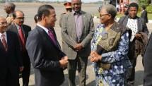 Menteri Pertanian Andi Amran Sulaiman dan Presiden Namibia