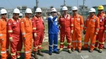 Wamen ESDM Arcandra Tahar saat meninjau Onshore Processing Facility (OPF) PT Saka Energi Indonesia di Gresik