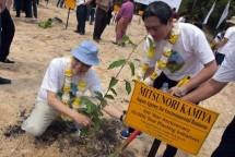 APP Sinar Mas Rayakan 60 Tahun Hubungan RI-Jepang dengan Penanaman Pohon