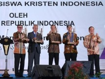President Jokowi at the GMKI Congress (Photo Doc of Industry.co.id)