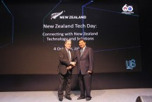 Minister of Industry Airlangga Hartarto took a photo with New Zealand Deputy Prime Minister Winston Peters on the New Zealand Tech Day event in Jakarta (Photo: Ministry of Industry)