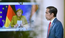 President Joko Widodo and German Chancellor Angela Merkel officially open the Hannover Messe 2021