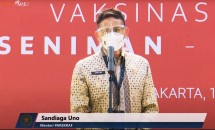 Minister of Tourism and Creative Economy Sandiaga Uno (19/04/2021).