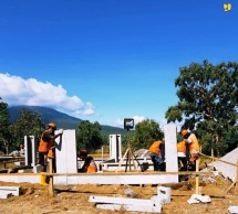 Ministry of Public Works and Public Housing begins the construction of permanent houses for flood and landslide victims in East Nusa Tenggara. (Photo by: Ministry of Public Works and Public Housing)