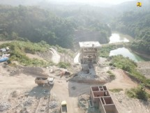 Ladongi Dam is being constructed, in East Kolaka, Southeast Sulawesi. (Photo by: Ministry of Public Works and Public Housing PR)