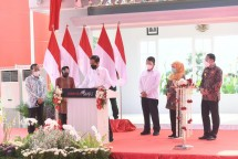 President Jokowi inaugurates Benowo Waste-to-Energy Plant in Surabaya, Thursday (06/05/2021) afternoon. (Photo: Bureau of Press, Media, and Information of Presidential Secretariat/Lukas)