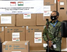 Indonesia sends medical assistance to India to handle the surge in COVID-19 cases. (Photo by: Presidential Secretariat/Rusman)