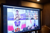 A virtual press conference on the anticipation of people mobility and prevention of the COVID-19 spread after Eid al-Fitr period, Saturday (15/05). Photo by: PR of Coordinating Ministry for Economic Affairs