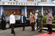President Jokowi kicks off working visit to Riau Province on Wednesday (19/05). Photo by: BPMI of Presidential Secretariat/Muchlis Jr.