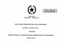 Decree of the President of the Republic of Indonesia Number 12 of 2021 concerning the National Committee for the Organizing of the Presidency of the G 20 Indonesia in 2022