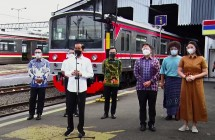 President Jokowi inspects mass COVID-19 vaccination at Bogor Train Station, West Java (17/06/2021). (Source: YouTube Channel of Presidential Secretariat)