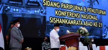 Vice President Ma'ruf Amin during Closing of National Conference on Public Security and Defense System, at Sentul, West Java province, Friday (18/6). (Photo: Vice President Secretariat)