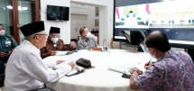 Vice President Ma'ruf Amin had a virtual meeting with academicians from Cenderawasih University, Tuesday (22/06). Photo by: BPMI of Vice President Secretariat.