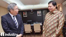 Minister of Industry Airlangga Hartarto meets CEO of Asahi Glass Co. Ltd. (AGC) Japan, Takuya Shimamura