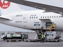 The arrival of AstraZeneca vaccines, Soekarno-Hatta Airport, Tangerang, Banten, Thursday (07/01). (Photo by: BPMI/Kris)