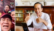 President Joko Widodo during a video call with Paralympics gold medalists, Sunday (5/9). (Photo by: Presidential Secretariat)