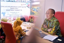 Deputy Cabinet Secretariat for Administrative Affairs Farid Utomo on the event, Tuesday (21/09). (Photo by: PR/Oji)
