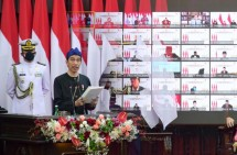 President Joko Widodo delivered the Government's Statement on the State Budget Bill for the 2022 Fiscal Year and its Financial Note, at the Plenary Meeting of the DPR RI in Jakarta, Monday (16/8). (Photo: BPMI)