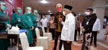 Vice President Ma'ruf Amin in his work visit to Central Java provincial capital Semarang, Thursday (07/10). (Photo by: BPMI of Vice Presidential Secretariat)