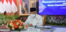 Vice President Ma'ruf Amin leads a Coordination Meeting on Extreme Poverty Eradication in Central Java province (Photo by: Vice President Secretariat's Press, Media, and Information Bureau)