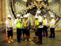 President Jokowi visits the MRT project