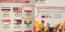 The Indonesian flag is reversed in Malaysia's SEA Games guidebook
