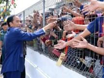 Presiden Jokowi temui masyarakat Sukabumi, (Kamis 31/8/2017)