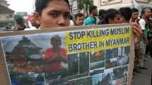 Hundreds of Mass Demos at the Myanmar Embassy
