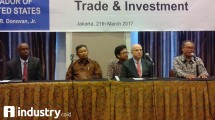 API Chairman Ade Sudrajat (Right) in a business meeting with US embassy (Hariyanto / INDUSTRY.co