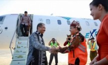Minister Arief Yahya on the inaugural flight Garuda Indonesia Jakarta-Banyuwangi